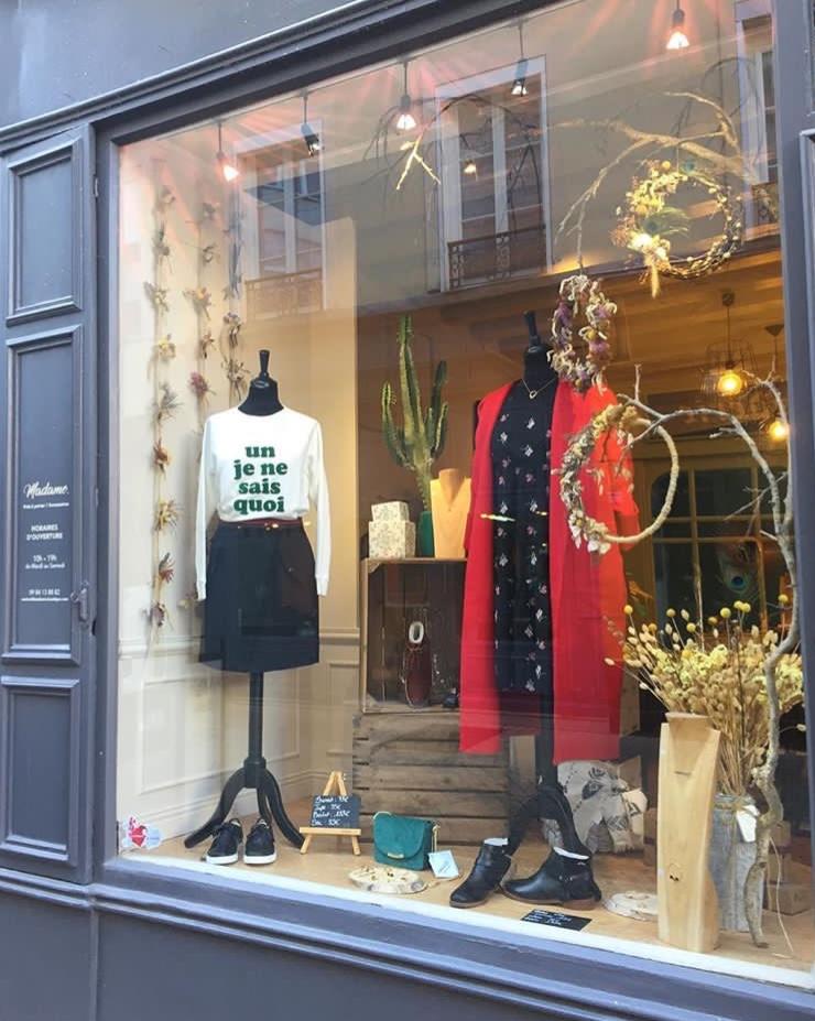 Vitrine boutique Madame